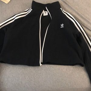 Adidas cut off jacket